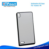 2D pc blank sublimation phone case silicon case for huawei ascend p6