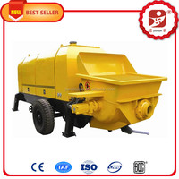 Superior trailer concrete pump Electric portable mobile mini Stationary Concrete Boom Pump for sale with CE approved