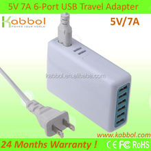 5V 7A 35W USB Charger Station for iPhone 5s, 5c, 5, 4s, 4; iPad 5, Air, mini; ipod Touch, nano; Samsung Galaxy S4, S3,,