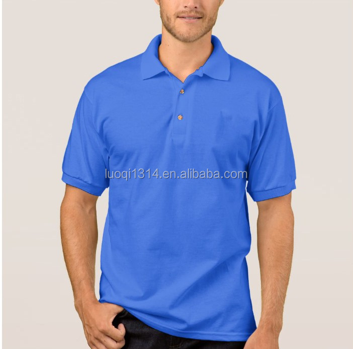 High quality cheap plain blank black short sleeve polo shirt with 3 button