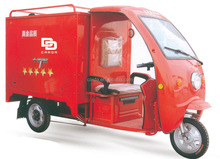 48V Electric delivery truck with lift cargo box /Cabin cargo tricycle for sale