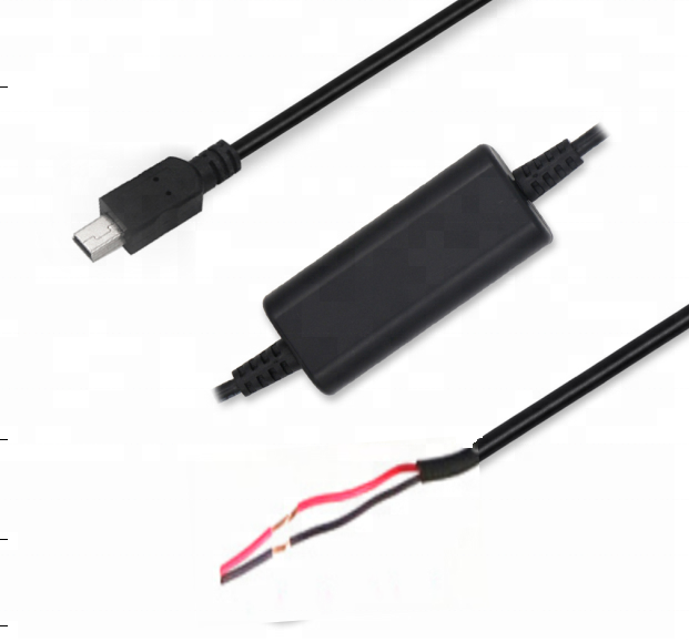 2m 2464 20awg/2c 5v step up 12v 9v USB A Male to DC 5.5*2.1MM 5v to 12v converter cable