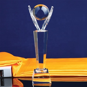 Pujiang Crystal Trophy Custom Blank Awards Glass Trophy