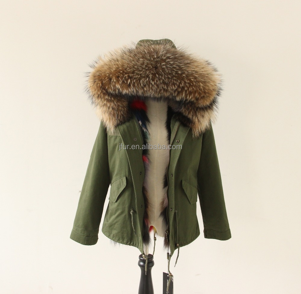 New Style Bomber Jacket Military Uniforms Army Parka Fox Fur Lined Parka
