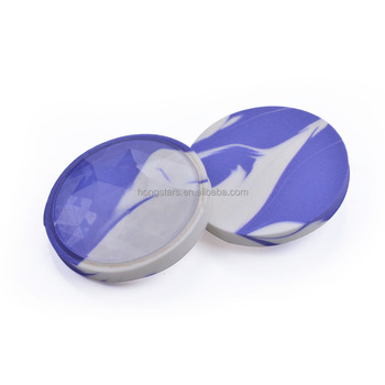 Foundation Double-faced Powder Puff Blue Marble Round Make up Sponge Blender