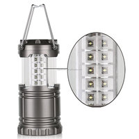 LED Lantern Super Bright Collapsible Light With 30 LEDs for Hiking Camping Emergencies