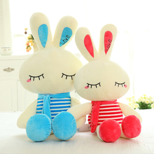 Cute plush pillow rabbit shaped love embroidery stuffed animal toys