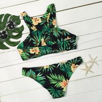 Unique custom design two pieces swimsuit women swimwear