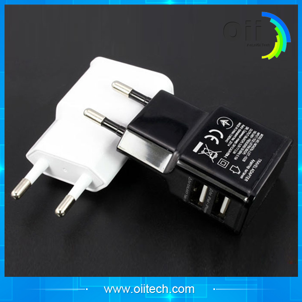 Mobile Phone EU Plug USB Wall Charger Power Adapter 5V 2A Home Travel AC Power Charger For Samsung S6 54 Iphone Xiaomi Charger