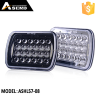 "5x7"" Square LED Work Light Headlamp 75w with DRL Bulb for Jeep Off-road Wrangler Truck Motorcycle Auto"