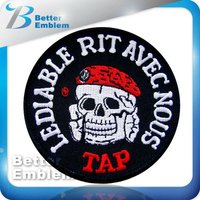 Embroidery Fabric Skull Patch
