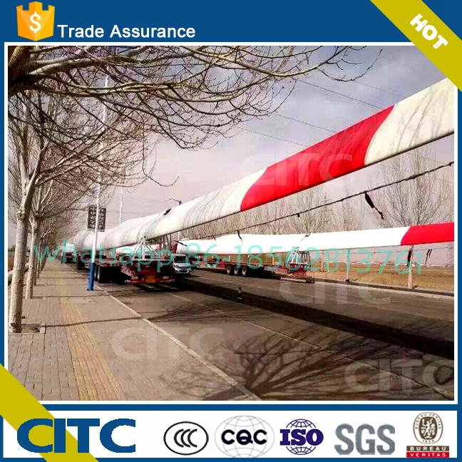 wind blade extendable heavy duty cargo and machine transport lowbed semi trailer