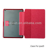 New arrival pu leather flip smart case for ipad 5