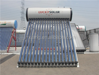 Integrated pressure solar water heater with heat pipe