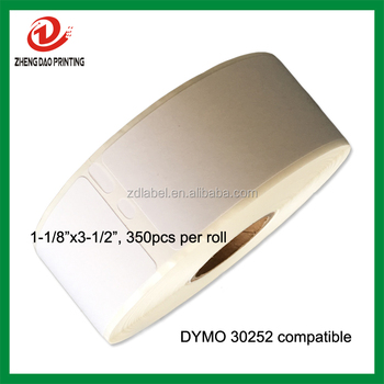 "dymo labels 30252 compatible direct thermal label 1-1/8""x3-1/2"""