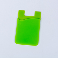 Hot silicone card holder 3m sticker paste smart wallet for mobile phone