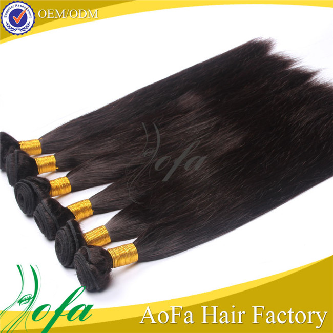 Full cuticle hot sale best quality 6A grade malaysian hair straight weave