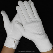 RL SAFETY hand plain white cotton gloves