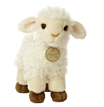 Custom embroidery logo stuffed animal plush lamb