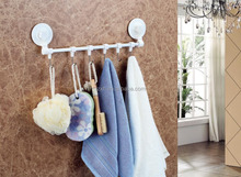 Movable bathroom plastic holders with suction cup,towel rack with suction cup