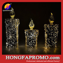 decorative glitter led candle light wholesale