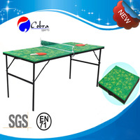 KBL-12T05 GREEN Colorful Mini Table tennis table,foldable ping pong table,kids game tennis table