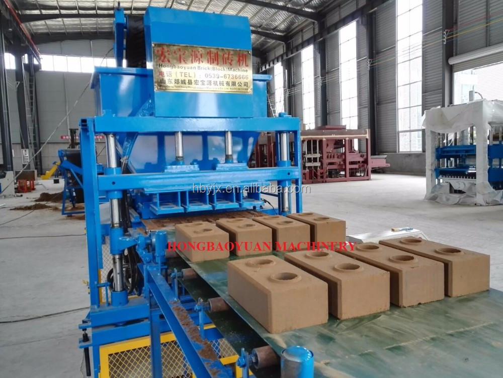 HBY4-10 automatic concrete interlocking hydraform innovative new products block making machine
