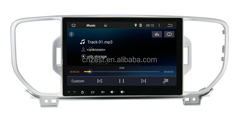 highend android radio for KIA Sportage 2016 KX3 car dvd multimedia with WiFi BT 3G android gps navigation system