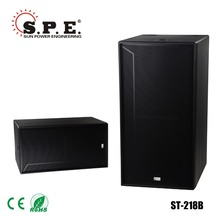 "ST-218b dual 18"" subwoofer speaker box 1200W sound box design nexo subwoofer speaker"