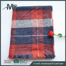 check winter blanket scarf winter for women