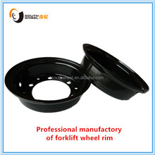 Heavy machine moving wheels, multi-piece wheel rim for forklift & industrial equipment