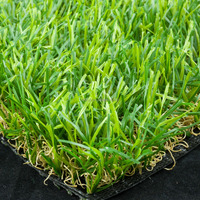 "Pile height 40mm 3/8"" Gauge PP+PET fabric Backing artificial turf for landscape and sports"