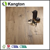 Featured-graded Oak UV Oil Coating Aged Smoked Handscraped Engineered Flooring