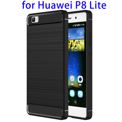 OEM Service Brushed Texture TPU Mobile Phone Case for Huawei P8 Lite