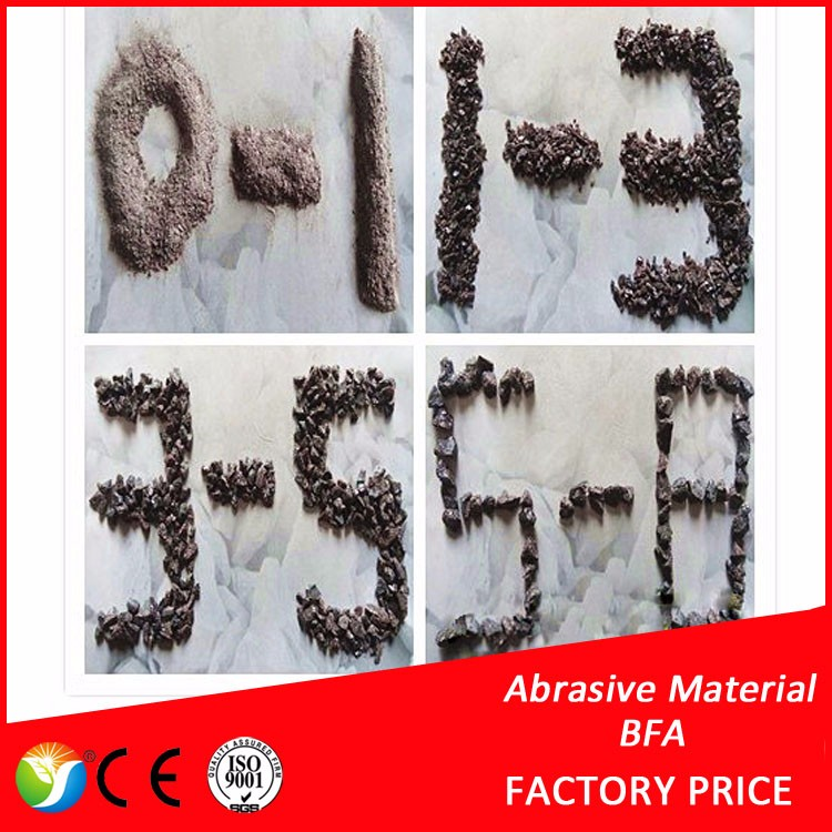 0-1,1-3,3-5mm refractory material brown fused alumina 95%Al2O3 content