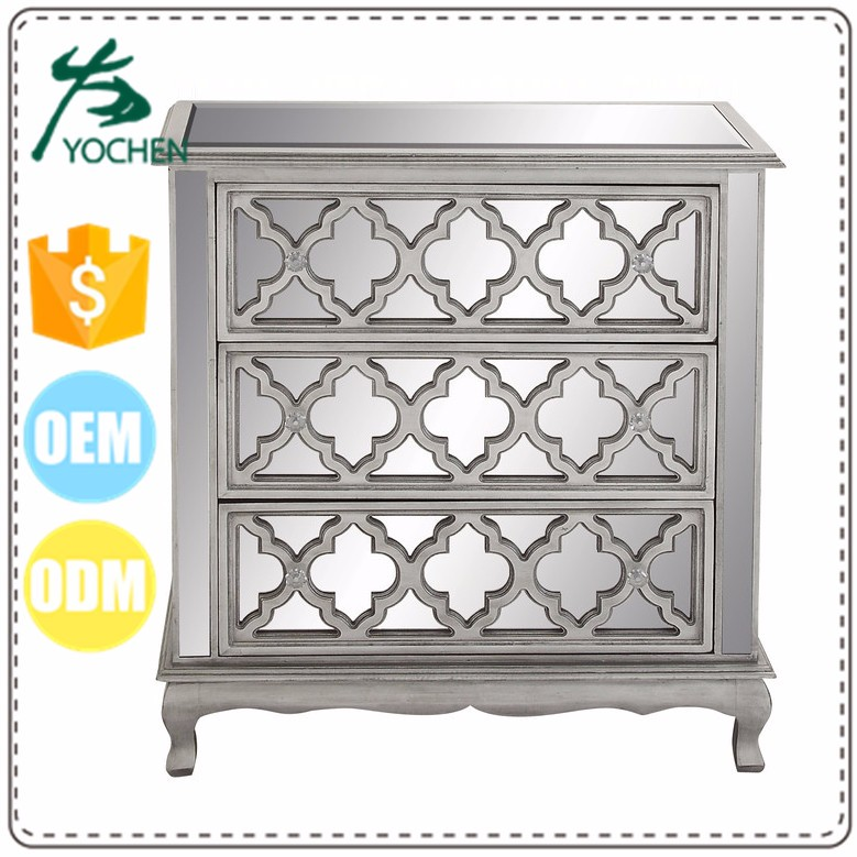Wholesale soft storage chest cabinet 50 wide cabinet glass white mirror cabinet