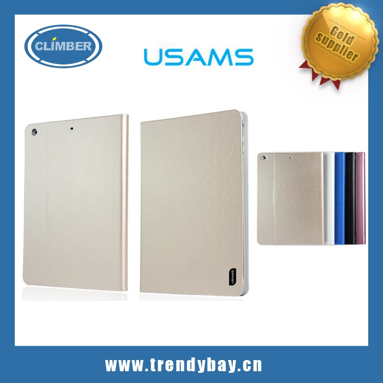 USAMS brand leather stand case for apple ipad air