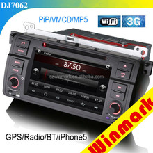 single din special car audio for BMW E46/M3 with DVD/GPS/BT/VMCD/RADIO/3G/etc DJ7062