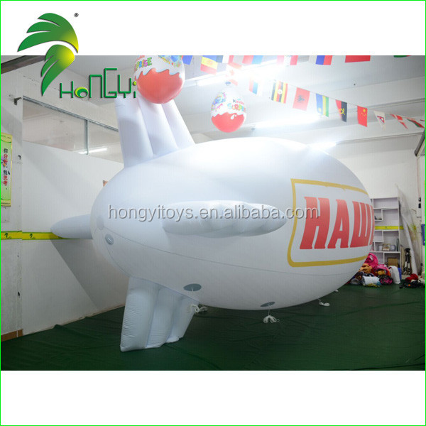 Wholesale Cheap PVC Airship Advertising Inflatable Design / Promotion Sky Model Airship Blimp Shape Balloon