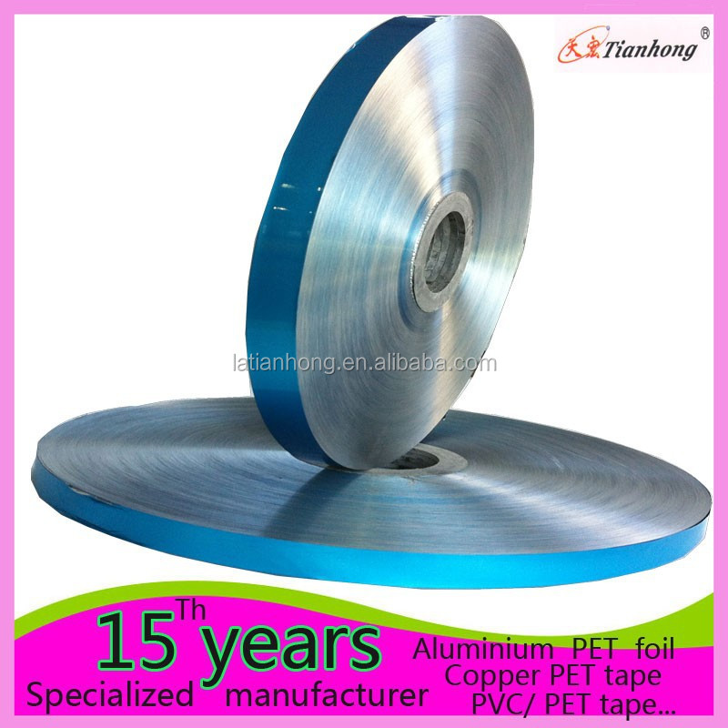 blue thick /thin aluminum metallized film with mylar coated for cable insulation shield