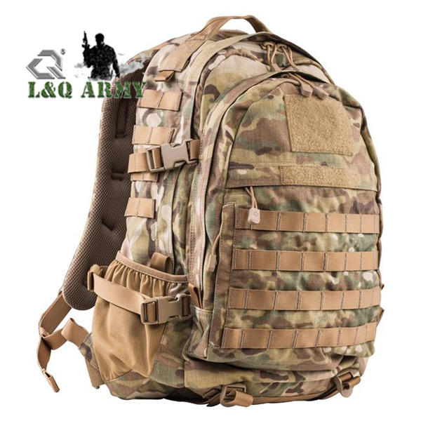 Military 3 Day Expandable Backpack Black Bag