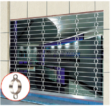 Thickness 0.6mm safety door design with grill roller shutter door