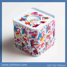airtight square milk powder box biscuit tin made in china