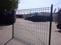 High security pvc coated permanent wire panel fence with 3D v foldings