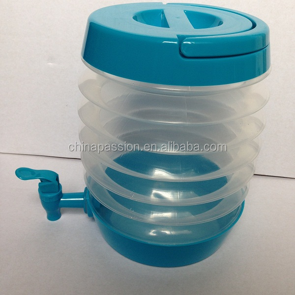 collapsible plastic water&juice beverage dispenser 3.5L
