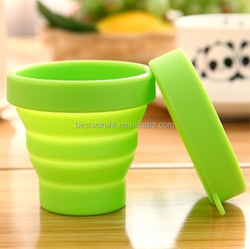 silicone rubber folding cup silicone rubber tablet case silicone cup
