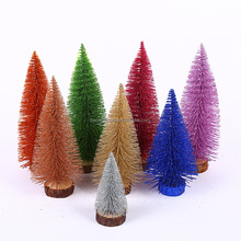 Artificial mini christmas tree small PE christmas table decoration