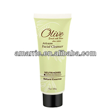 Olive oil extract whitening facial wash for skin care