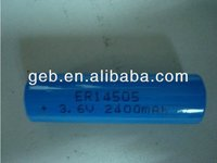 ER14505 AA 3.6V 2400mAh Lithium Thionyl Chloride Li-SOCL2 battery for Backup power is widely used in electricity, gas and flow