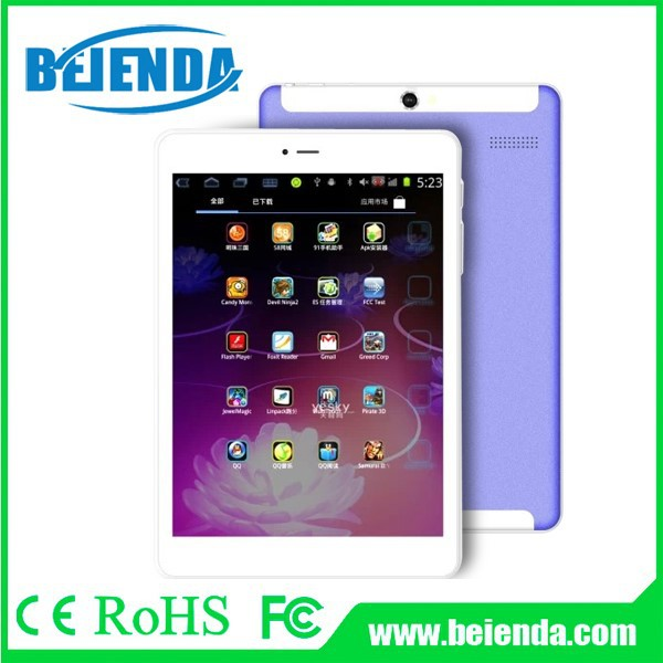 7.85 inch mtk8312 with dual core 3g calling android tablet pc